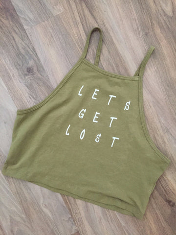 Let's Get Lost Crop Tank
