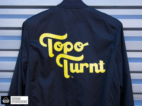 Topo Turnt Unisex Lightweight Bomber Jacket (Black)