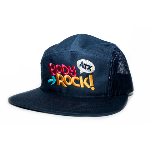 Body Rock ATX 5 Panel Trucker Snapback (Navy)