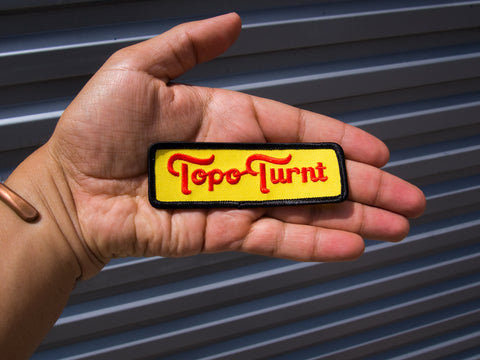 Topo Turnt Embroidered Patch