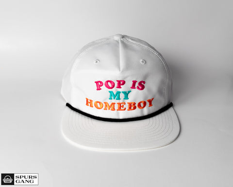 Pop Is My Homeboy White Grandpa Pinch Hat - Fiesta Color Edition