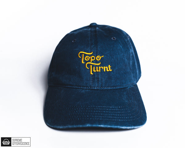 Apple Bottom Blue Topo Turnt Embroidered Dad Hat