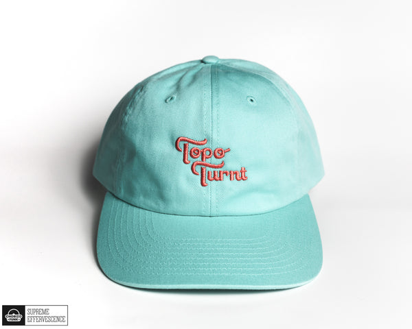 Aruba Blue Topo Turnt Embroidered Dad Hat
