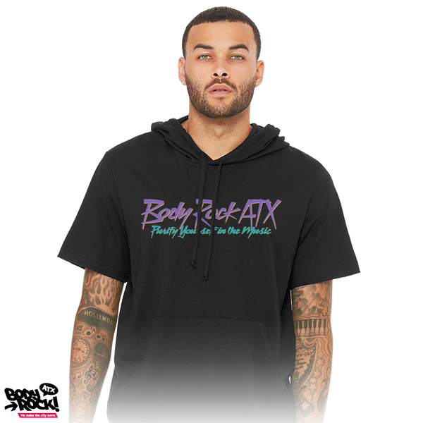 Body Rock ATX: Purify Yourself in the Music-Short Sleeve Hoodie-Black