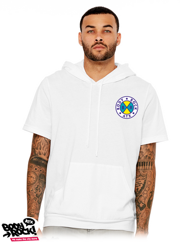 Body Rock ATX: Cross Colors Short Sleeve Hoodie (White)