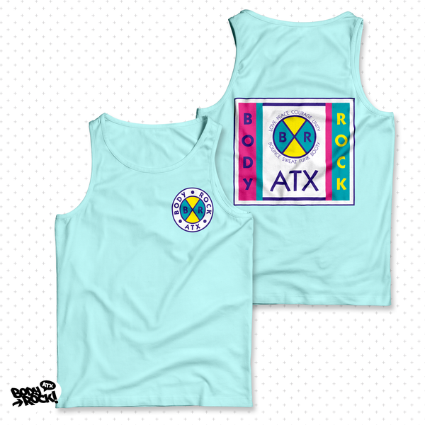 Body Rock ATX: Cross Colors Unisex Tank (Ice Blue)