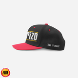 Houston inspired Chorizo Snapback (two tone-black and red)