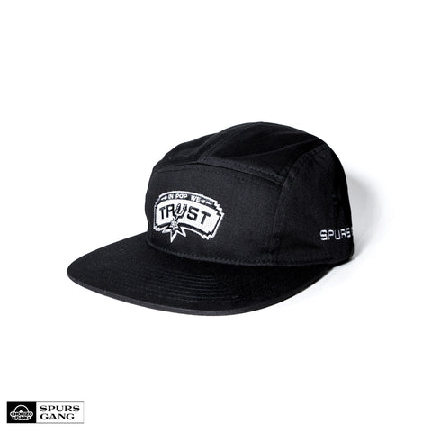 In Pop We Trust 5 Panel Hat (BLACK)