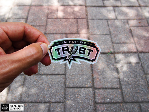 In Pop We Trust-Holographic Sticker