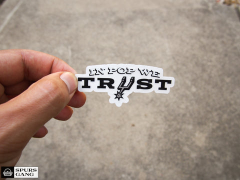 In Pop We Trust- 2020 VERSION -Clear Sticker