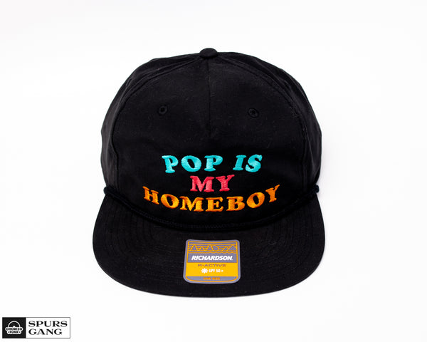 Pop Is My Homeboy BLACK Grandpa Pinch Hat - Fiesta Color Edition