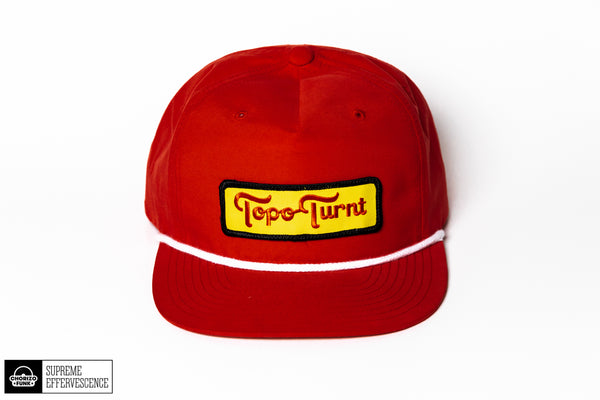 Topo Turnt Grandpa Pinch SnapBack (Red)