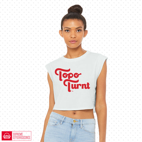 topo chico topo turnt topochico topoturnt summer crop top sparkling water ladies