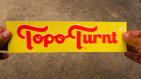 Topo Turnt Yellow Bumper Sticker