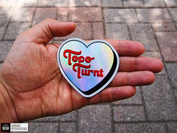 Topo Turnt Holographic Heart Sticker
