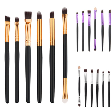 Professional 3 color 6pcs/set Pro Makeup Cosmetic Brushes