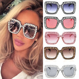 Fashion Square Frame Bling Sunglasses