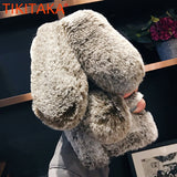 Fluffy Rabbit faux Fur  Cases For iPhone X 8 7 6S Plus Samsung Galaxy S9 S8 Plus S7 S6 edge