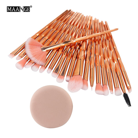 Pro 5-20 Pcs Diamond Makeup Brushes Set
