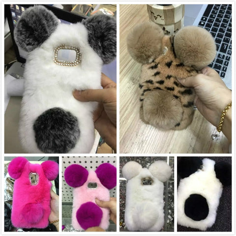 Faux Fur Case For Cell phone