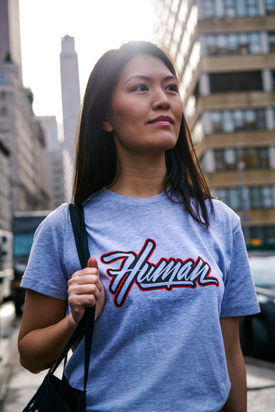MKTG Human Heather Grey Tee