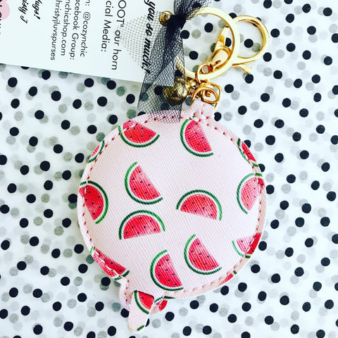 Watermelon Compact Mirror Purse Charm