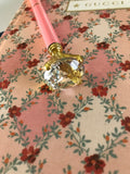 Jeweled Pen, Pink/Gold