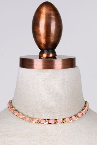 The Coco Chain Choker, Pink