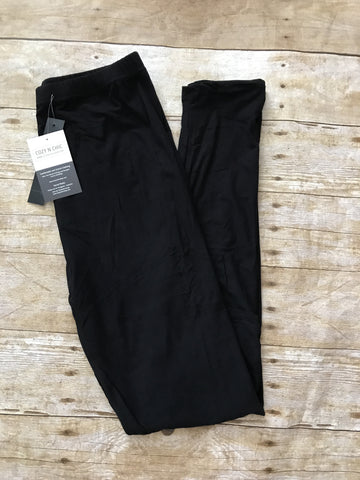 Smooth Like Butter Leggings-Black