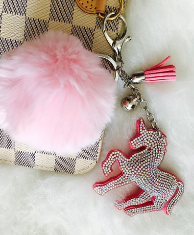 Sparkles the Pink Unicorn Purse Pom
