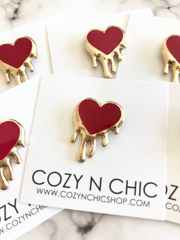 Mini Pin, Red Heart