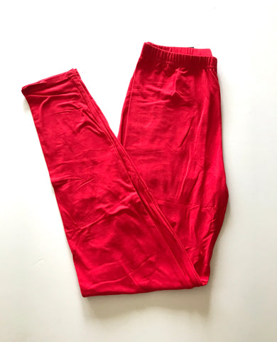 Smooth Like Butter Leggings-Red