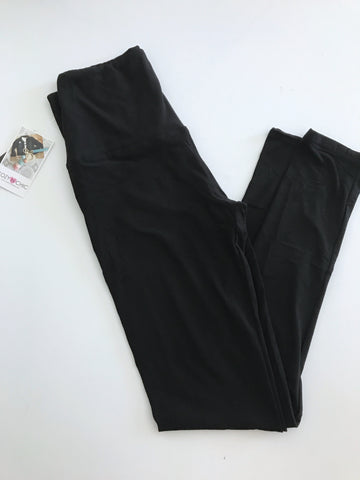 Softest Cozy Leggings, Black Wide Band
