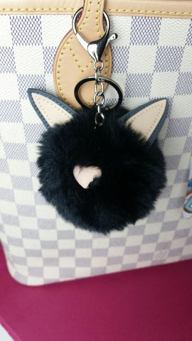 Black Kitty Purse Charm