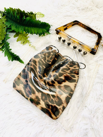 Leopard Clear Handbag