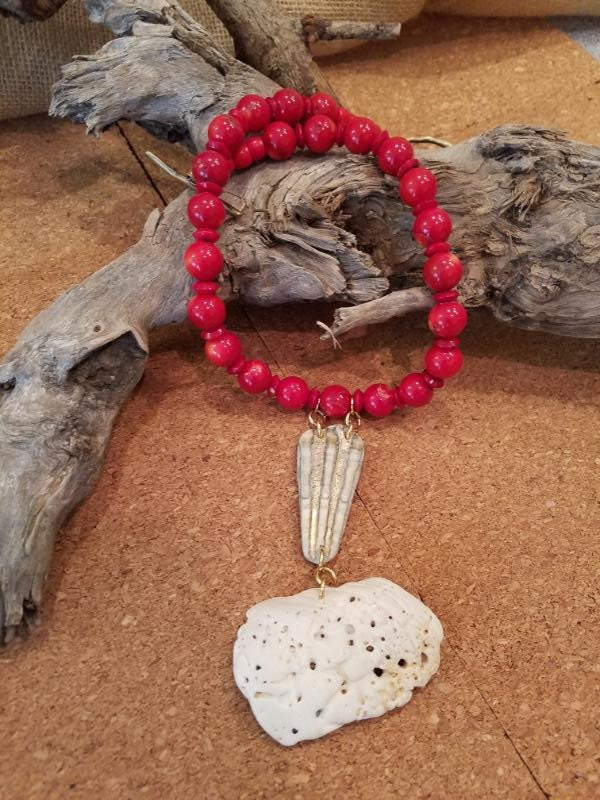 Coral with Beachy Additions