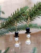 Swarovski Snowmen Christmas Earrings