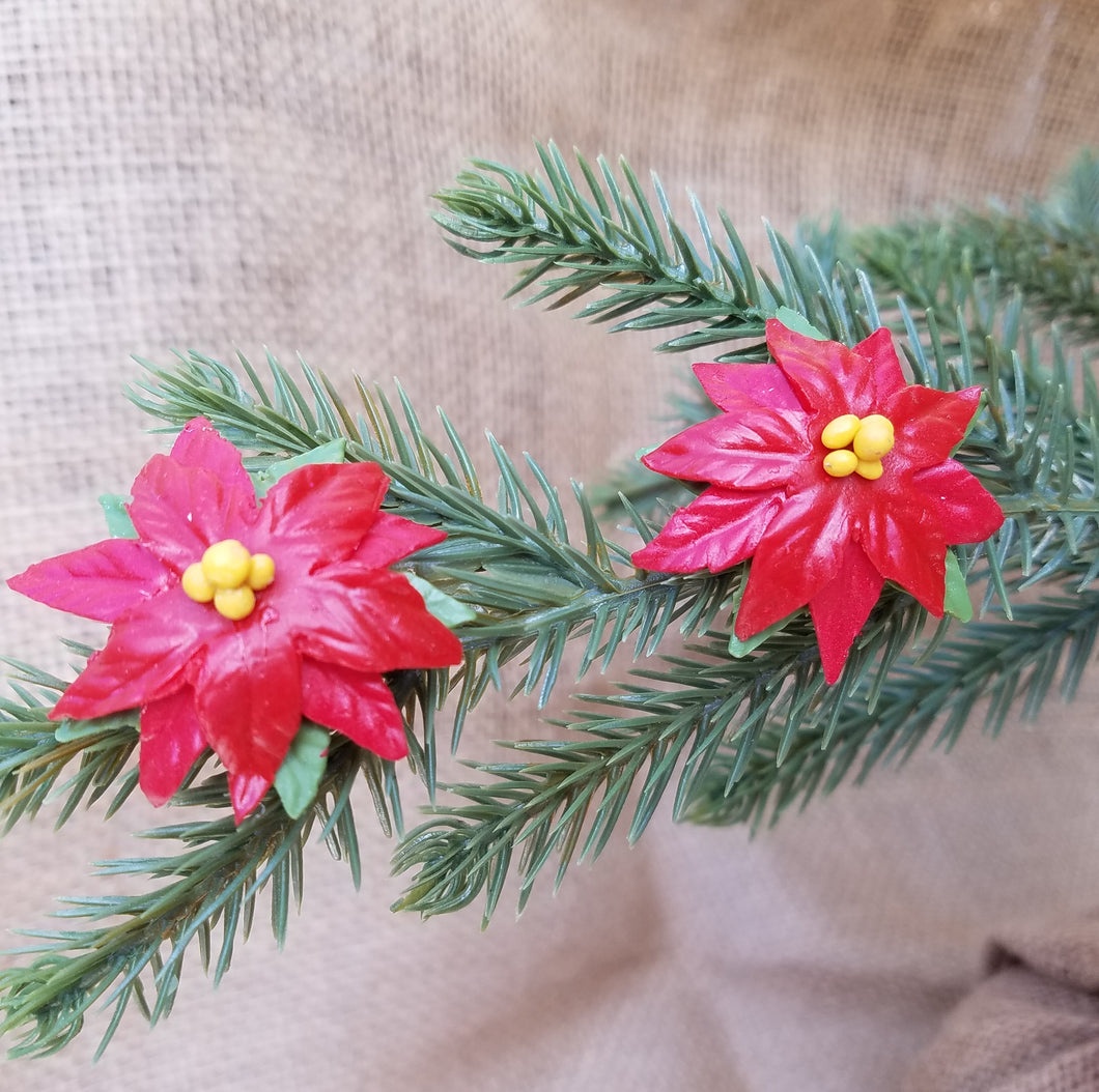 Christmas Poinsettia Earrings
