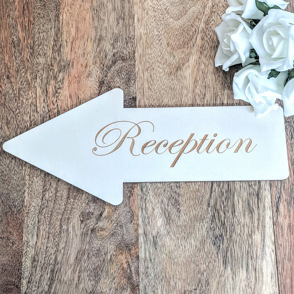 Personalised Wooden Wedding Arrow Sign