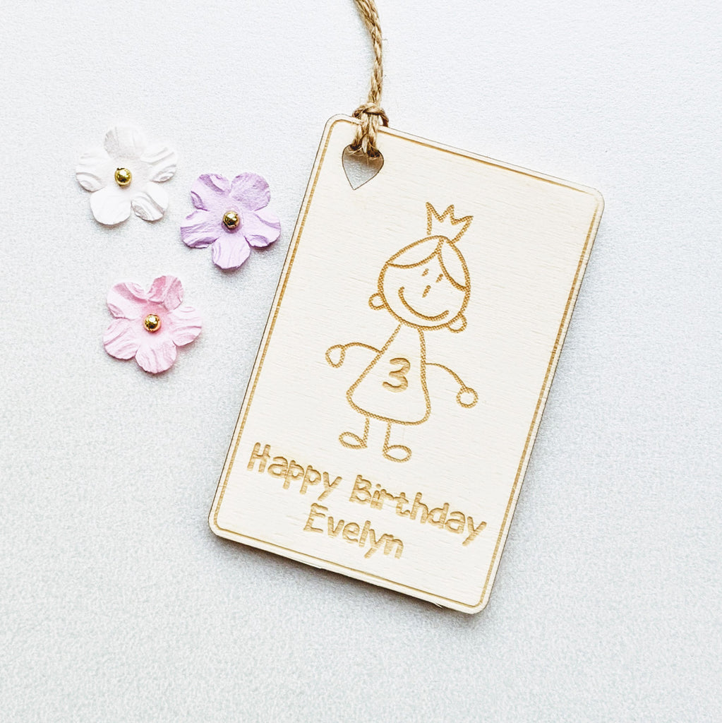 Cartoon Girl Gift Tag