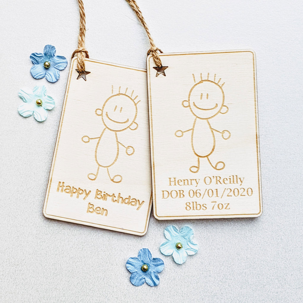 Cartoon Boy Gift Tag