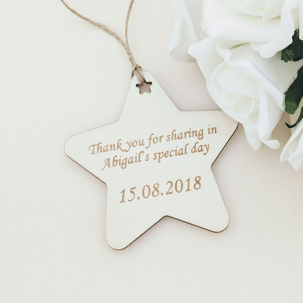 Christening Gift Tag - Star
