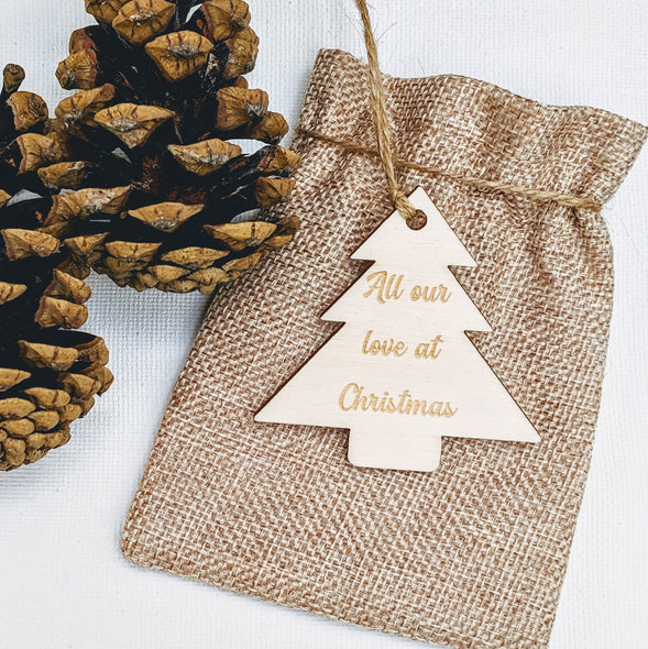 Personalised Wooden Christmas Tree Gift Tag