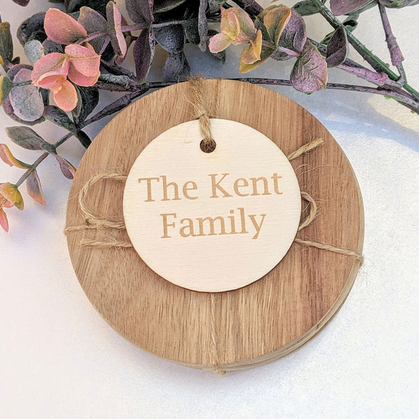 Personalised Circle Shaped Gift Tag