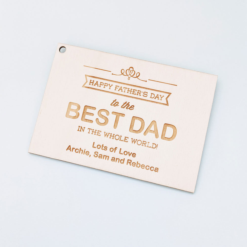 best dad banner happy fathers day card