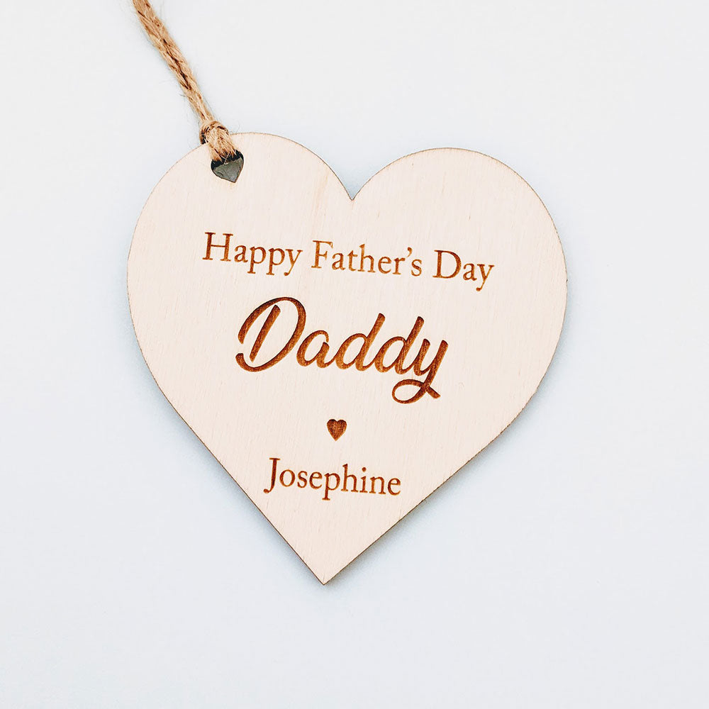 Happy Father's Day Heart Gift Tag