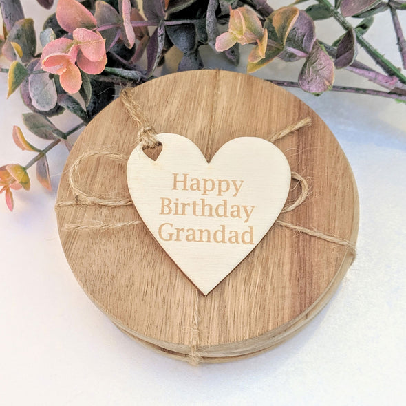 Personalised Wooden Heart Shaped Gift Tag