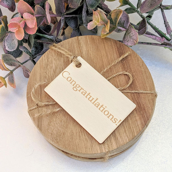Personalised Wooden Horizontal Gift Tag