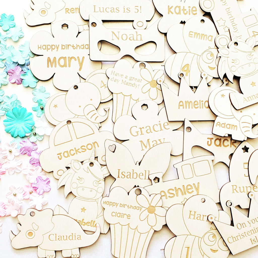 Personalised Wooden Cupcake Gift Tag