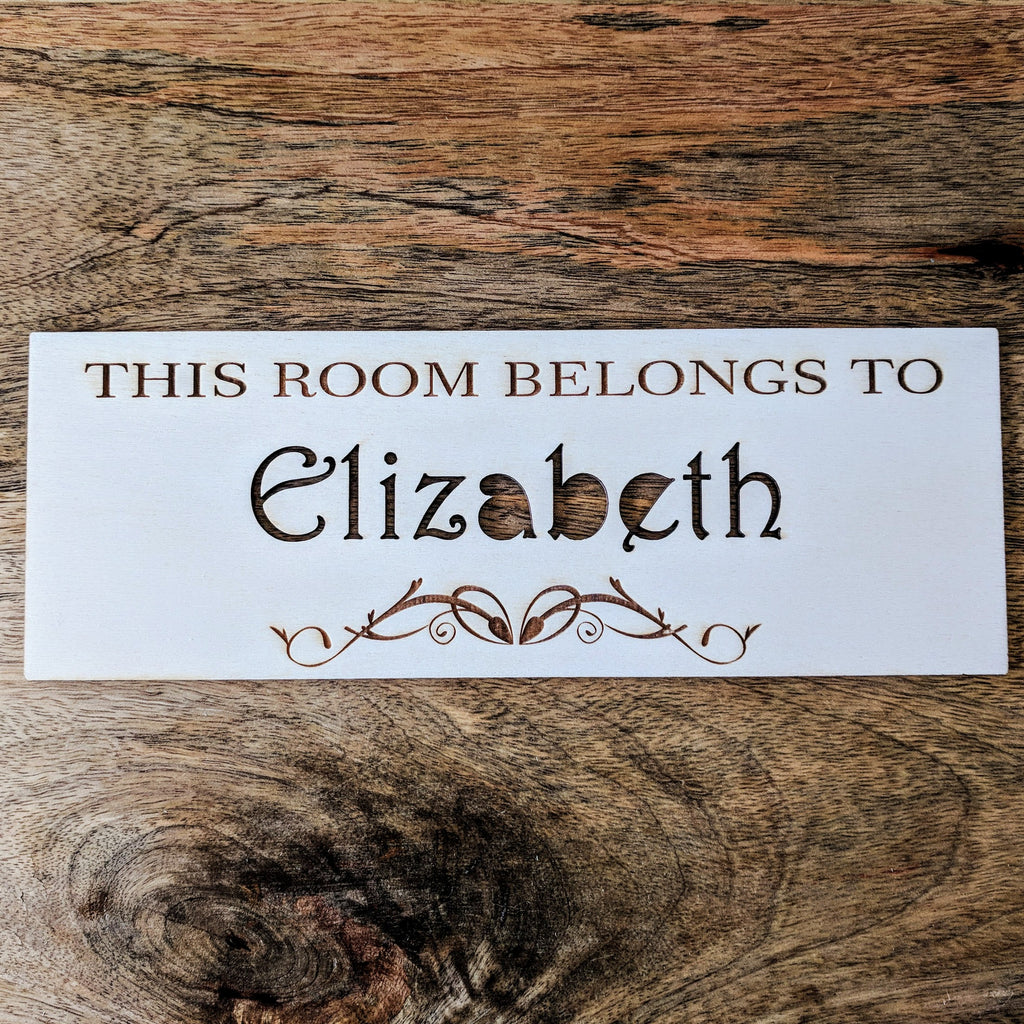Personalised Wooden Antique Bedroom Sign - Antique